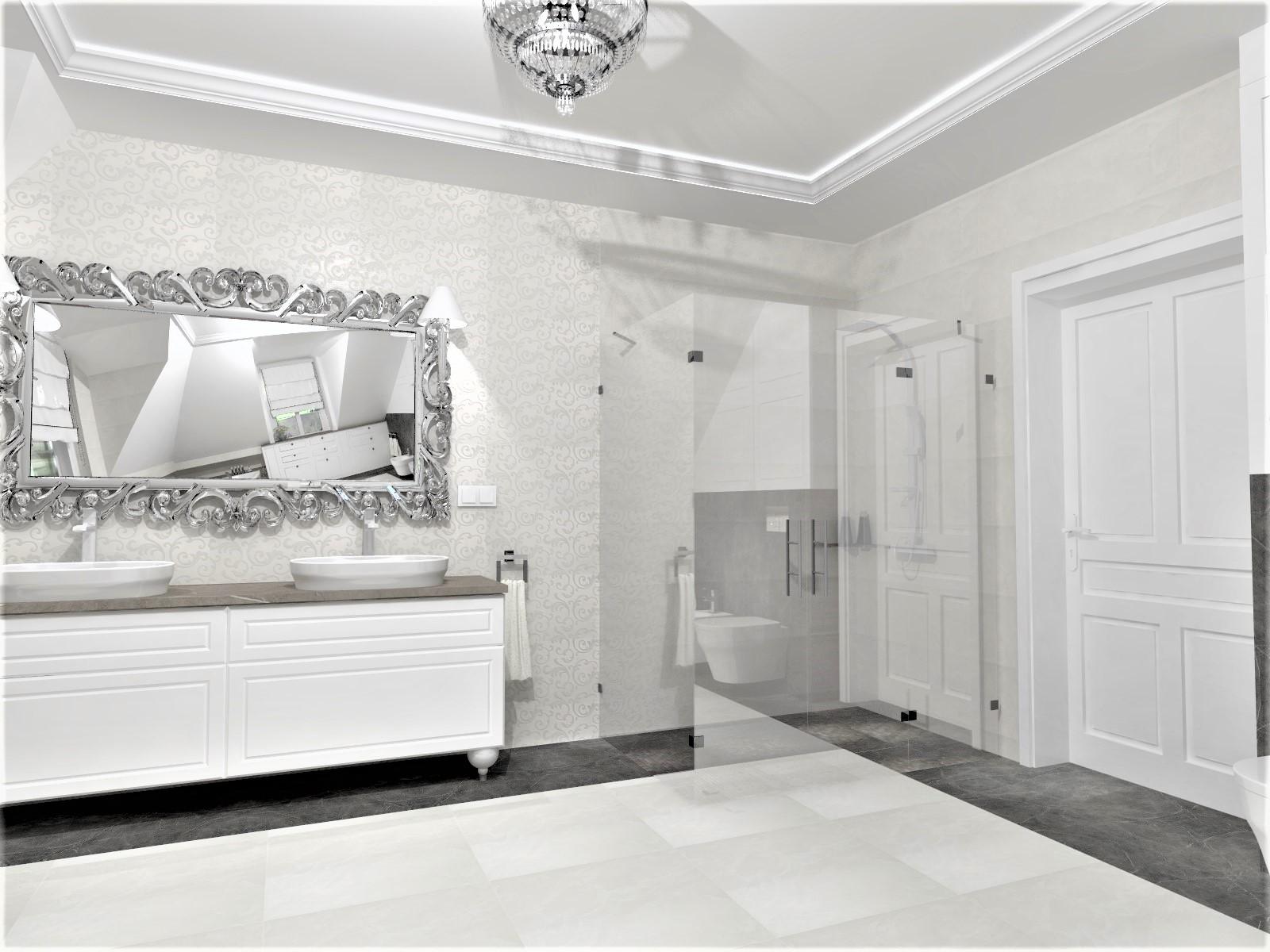 łazienka W Stylu Modern Classic Zaprojektowana